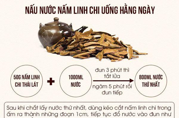 Hướng dẫn cách sử dụng nấm linh chi đỏ, vàng, cao linh chi hiệu quả