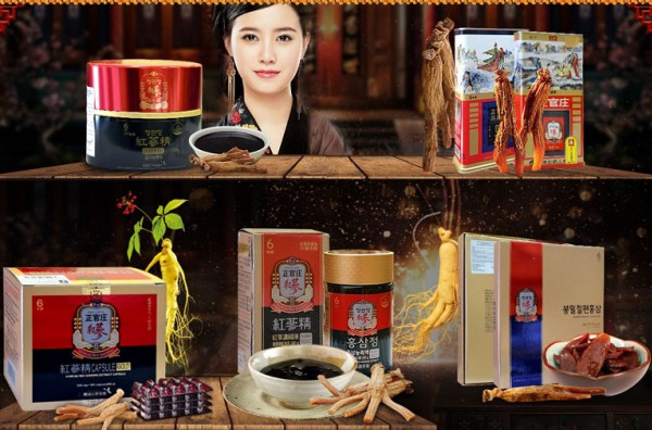 Các loại sản phẩm sâm Chính phủ KGC Hàn Quốc