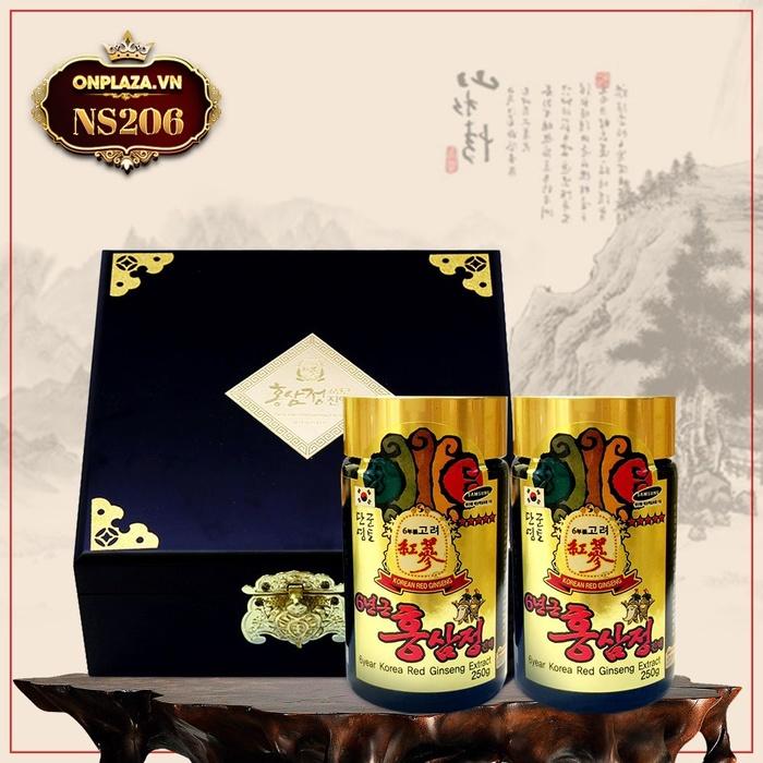 Cao hồng sâm Hàn Quốc 2 lọ hộp gỗ NS206
