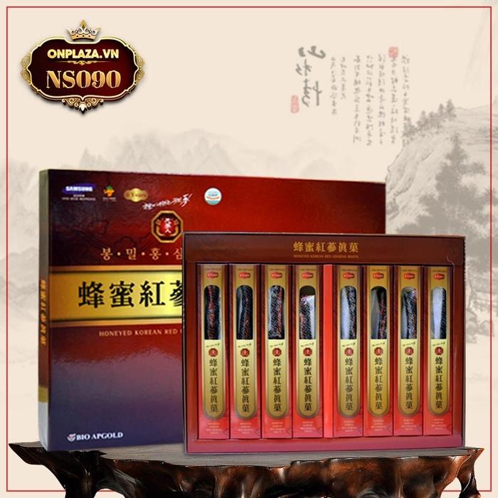 Hồng sâm nguyên củ Hàn Quốc tẩm mật ong 200g (8 củ) NS090