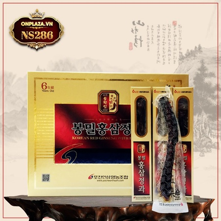 Hồng sâm nguyên củ tẩm mật ong cao cấp Pocheon NS286