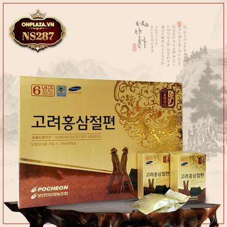 Hồng sâm tẩm mật ong thái lát Pocheon 200g NS287