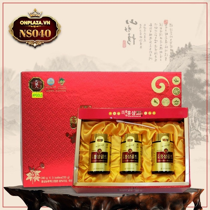 Cao hồng sâm 6 năm tuổi Hàn Quốc hộp 3 lọ NS040