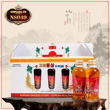 Nước uống hồng sâm KGS Hàn Quốc cao cấp loại có củ NS049