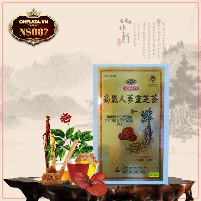 Trà nhân sâm linh chi cao cấp nhập khẩu Hàn Quốc NS087