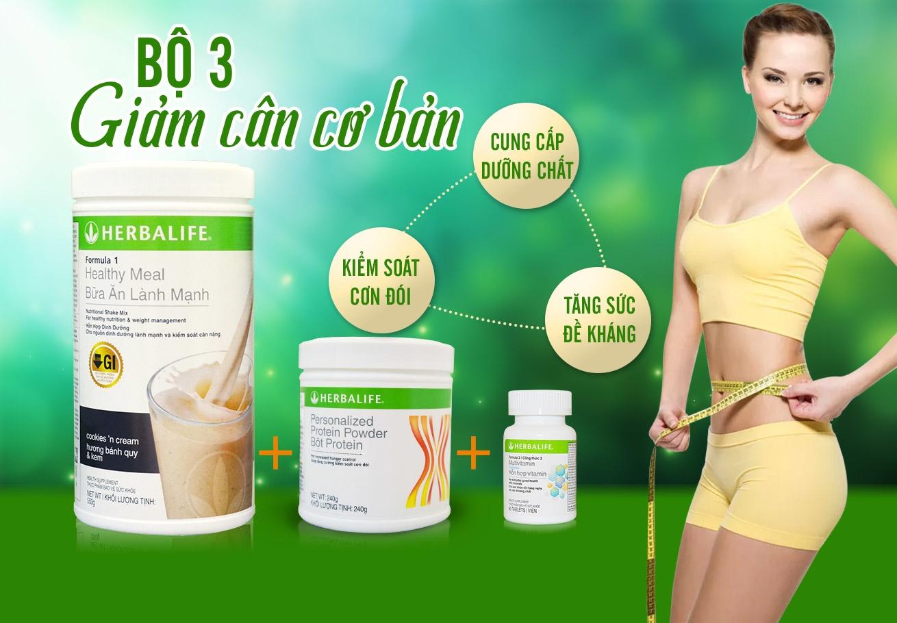Bộ 3 sản phẩm herbalife giúp kiểm soát cân nặng cơ bản H019