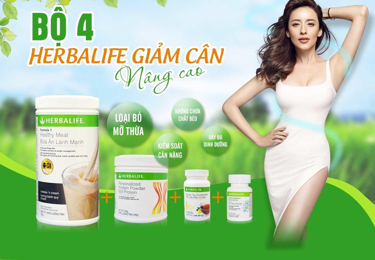 Bộ 4 sản phẩm herbalife giảm cân nâng cao H020