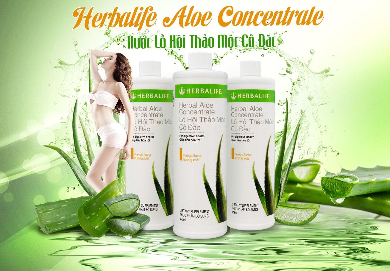 Trà thảo mộc Lô hội cô đặc Herbalife Aloe Concentrate