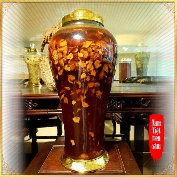 Sâm Ngọc Linh thái lát ngâm mật ong bình 17 lít NS418