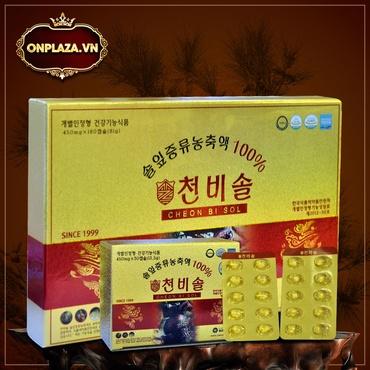 Viên tinh dầu thông đỏ Hàn Quốc Cheon Bi Sol cao cấp hộp 180 viên K413