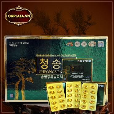 Viên tinh dầu thông đỏ Hàn Quốc Cheong Song Won 180 viên hộp xanh K414