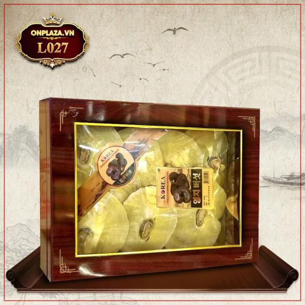 Nấm linh chi vàng thượng hạng Hàn Quốc hộp quà biếu L027