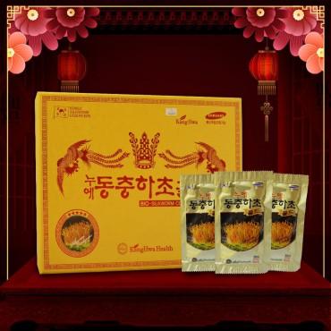 Nước ĐTHT hộp quà biếu gỗ vàng 60 gói cao cấp Hàn Quốc D043