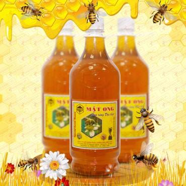 Mật ong hoa rừng loại đặc biệt  loại 1400g (Chai nhựa) MO001