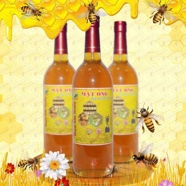 Mật ong rừng sữa chúa loại đặc biệt nguyên chai 1000g(Chai thủy tinh) MO008