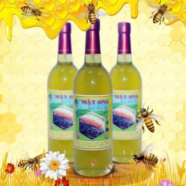 Mật ong hoa rừng bạc hà nguyên chất loại 1000g (Chai thủy tinh) MO005